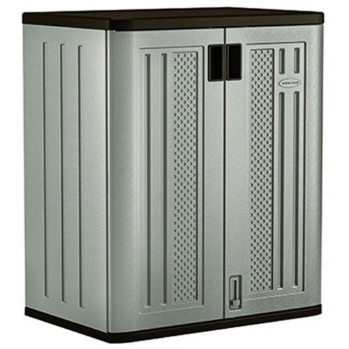 Suncast Base Storage Cabinet, Platinum - 2 Door Storage Base Cabinet