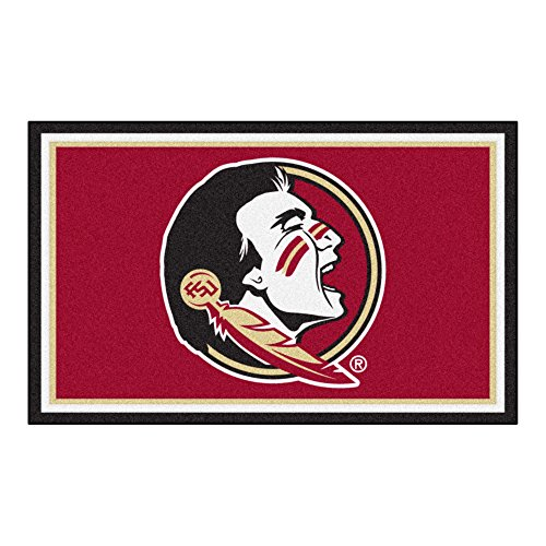 FANMATS NCAA Florida State University Seminoles Nylon Face 4X6 Plush Rug by Fanmats
