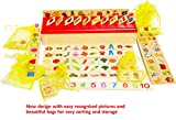 Wooden Sorting Box with Sorting Lid 8 Categories - wooden sorting toys -early learning centre wooden toys for 1 year old