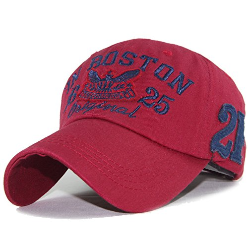 New baseball cap snapback hats for boy girls fashion visor cap letters print outdoor outdoor sun hats (Red Color)
