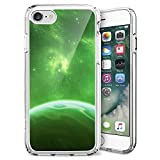 iPhone 7 8 Case,ZTtrade Green Galaxy Space Earth Design Bumper TPU Soft Case Rubber Silicone Case for iPhone 7 8 Clear