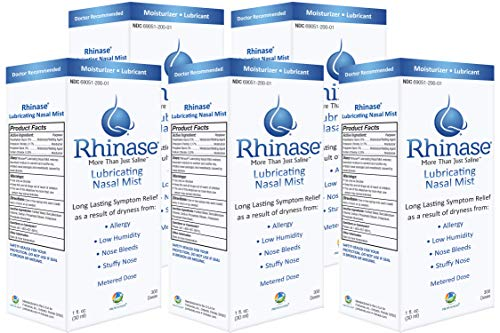 Rhinase Nasal Mist1 oz (5 Pack) for Dry Nose, Allergy and to Prevent Nosebleeds Caused by Nasal Dryness