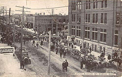 Avenue Street Scene - St Cloud Minnesota Fifth Avenue Street Scene Antique Postcard K105465