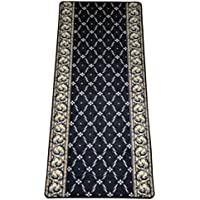Trellis Black Carpet Rug Hallway Runner 5