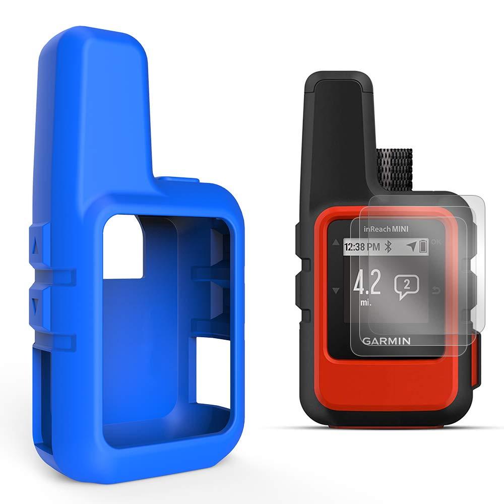 TUSITA Cas avec Protection d'écran pour Garmin inReach Mini GPS - Housse de Protection en Silicone Peau - Accessoires de Poche Satellite Communicator