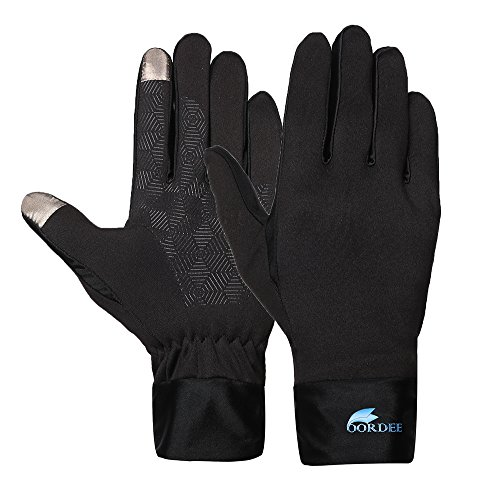 OORDEE Screen Touch Gloves, Tech Smart Texting Cycling Touch Screen Fingertip Anti-Skid Grip Mittens for Men & Women – Comfortable, Warm, Washable, Waterproof Thermal Technology Winter Accessories (L)