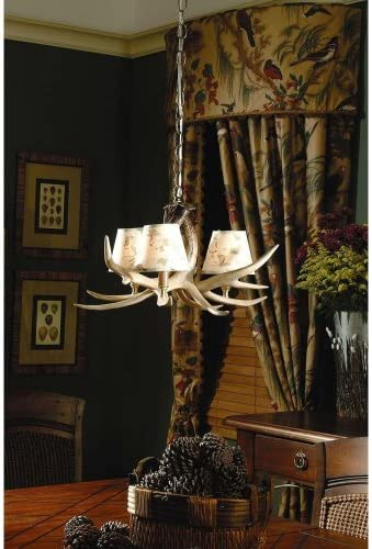 Ozark 3 Light, 3 Antler Chandelier