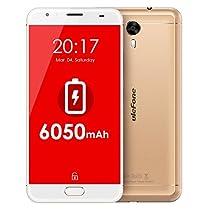 Ulefone Power 2 4G Smartphone 4GB RAM + 64GB ROM 5.5 Pollici Android 7.0 mtk6750t Octa Core 1,5 GHz 13 MP + 16MP Fotocamera 6050 mAh Batteria Carica Rapida Front Touch ID GPS