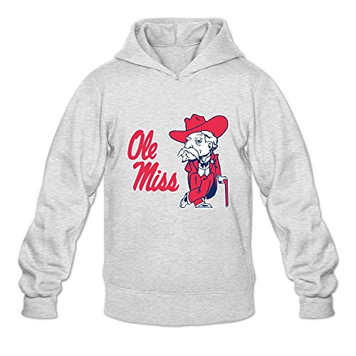 Ole Miss Rebels VAVD Man's 100% Cotton Hoodies Ash Size XL