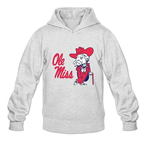 Ole Miss Rebels VAVD Men's 100% Cotton Hoodies Ash Size XXL