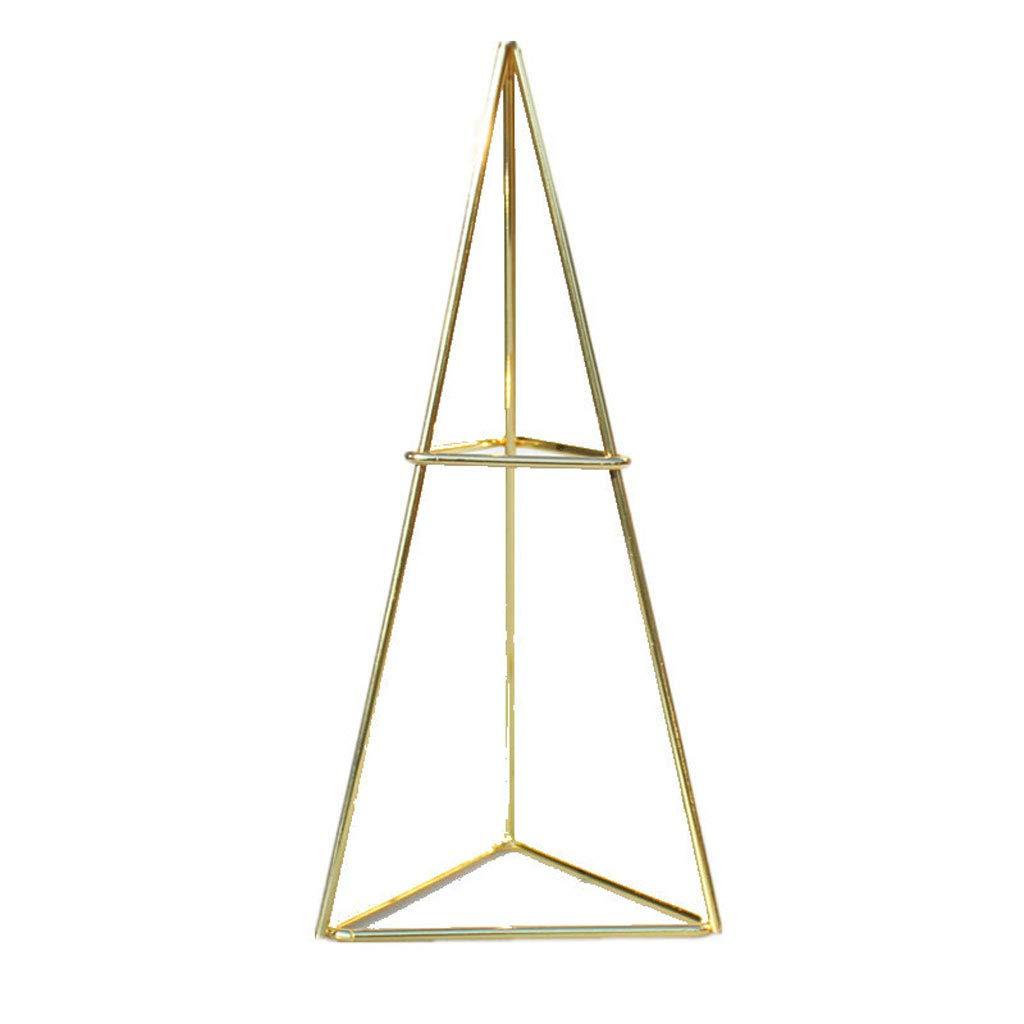 PLANT Air Rack Halter Schmuck Lagerung Display Eisenrahmen Rustikale Stil Freistehende Hä ngende Metallpflanzentopf (Farbe : Gold)