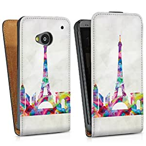 Diseño para HTC One M7 DesignTasche Downflip black - Paris my Love