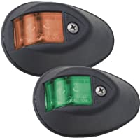 PERKO 0602DP1BLK / Perko LED Sidelights - Red/Green - 12V - Black Housing