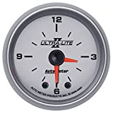 "Auto Meter 4985 Ultra-Lite II 2"" Analog Illuminated Clock Gauge"