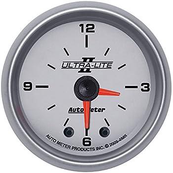 Auto Meter 7585 Phantom II 2 Analog Illuminated Clock Gauge