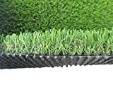 PZG Commerical Artificial Grass Patch w/ Drainage Holes & Rubber Backing | Extra-Heavy & Durable Turf | Lead-Free Fake Grass for Dogs or Outdoor Decor | Total Wt. - 83 oz & Face Wt. 55 oz | 12' x 10'
