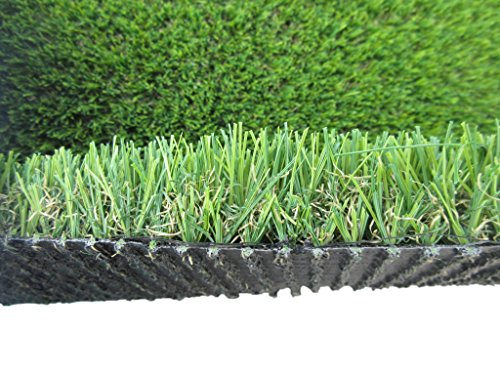 PZG Commerical Artificial Grass Patch w/ Drainage Holes & Rubber Backing | Heavy & Soft Turf | Lead-Free Fake Grass for Dogs or Outdoor Decor | Total Weight - 83 oz & Face Weight 55 oz | Size: 5' x 3'