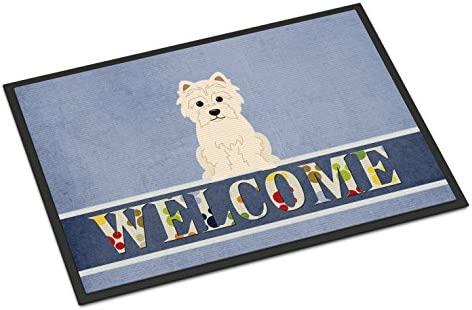 Caroline s Treasures BB5623MAT Westie Welcome Indoor or Outdoor Mat 18×27, 18H X 27W, Multicolor