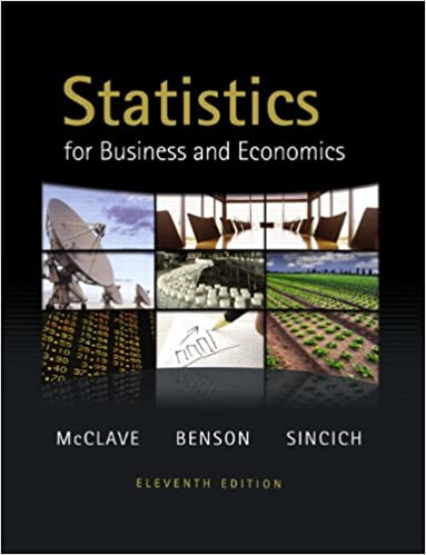 Statistics For Business And Economics 11th Edition Mcclave Pdf