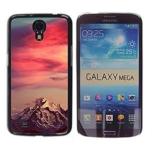 Caucho caso de Shell duro de la cubierta de accesorios de protección BY RAYDREAMMM - Samsung Galaxy Mega 6.3 I9200 SGH-i527 - Mountain Snow Red Sky Clouds
