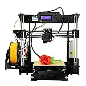 """Version Mejorada–alunar DIY 3d acrílico alta precisión impresora RepRap Prusa i3con 1,75mm Impresión 3d Filtro Pla, talla DE impresión 8.66x 8.66x 9.06"""""""