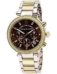 Michael Kors MK6118 Women's Parker Chronograph Grey Dial Two Tone Steel Bracelet Crystal Watch