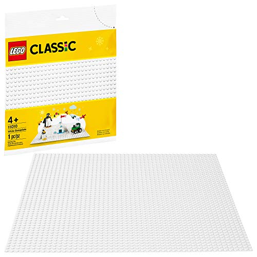 LEGO Classic White Baseplate 11010 Creative Toy for Kids, Great Open-Ended Imaginative Play Builders, New 2020 (1 Piece)