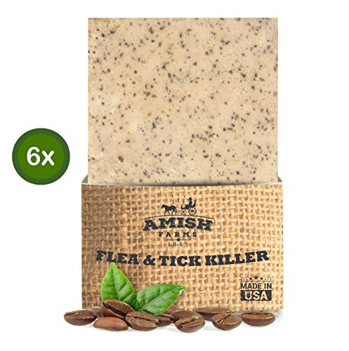 Exfoliating Formula - Amish Farms Natural Pet and Animal Soap - 6 Pack - Burlap Pouch Acts as Scrub Brush - For Dogs, Cats, Horses and More - Exfoliating Formula for Healthy Hair and Skin - 11oz Bar - Ranch Hand By