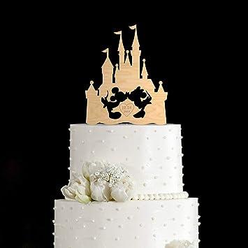 Castle Wedding Cake.Woode Castle Wedding Cake Topper Amazon Com Grocery Gourmet Food