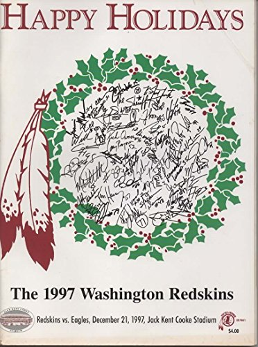 (GAMEDAY Magazine, Official Game Program, Redskins Edition, Philadelphia Eagles vs Washington Redskins, December 21, 1997, Jack Kent Cook Stadium)