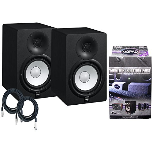 Yamaha HS7 95W Active Studio Monitor W/MoPads and Cables by Yamaha