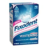 Fixodent Denture Cleanser Advanced Whitening Tablets, 78-Count