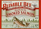 BUMBLE BEE Smoked Salmon Fillets In Oil, High Protein Food, Keto Food and Snacks, Gluten Free Food, High Protein Snacks, Canned Food, Bulk Canned Salmon, 3.75 Ounce Cans (Pack of 12) For Sale