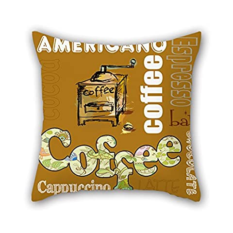 PILLO Coffee Pillowcase ,best For Relatives,bench,home Theater,floor,teens,boys 16 X 16 Inches / 40 By 40 Cm(two (Maggie Nelson Jane)