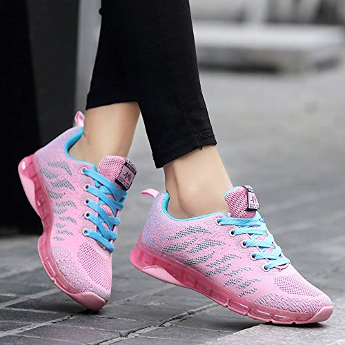 Sports Blue Flying Cushion Woven Shoes Air Sneakers Boots Women Net Ladies Running Amlaiworld Shoes Shoes Student Women's USqwA