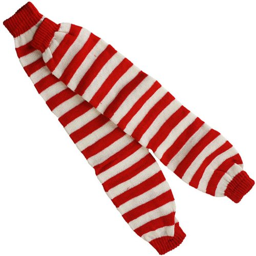 Red and White Striped Leg Warmers (Red And White Striped Leg Warmers)