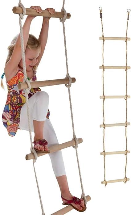 CHEN Escalera de Cuerda de Escalada de Nylon de 6.9 pies ...