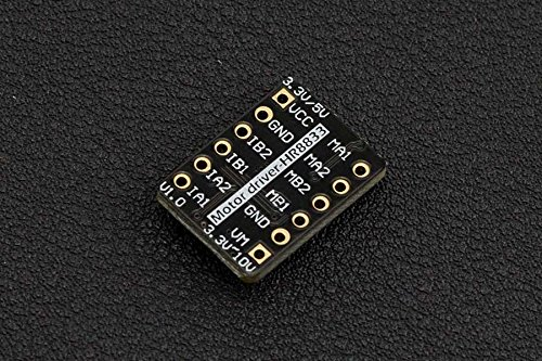 In ZIYUN, Thumbnail Sized DC Motor Driver 2*1.5A (HR8833), which could drive two way 1.5A DC brush motors up to 10V, Both sides of the module are desgined with standard XH2.54 pins