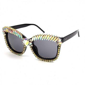 Yuanz Gafas de Sol de Gran tamaño de Las Mujeres Rhinestones ...