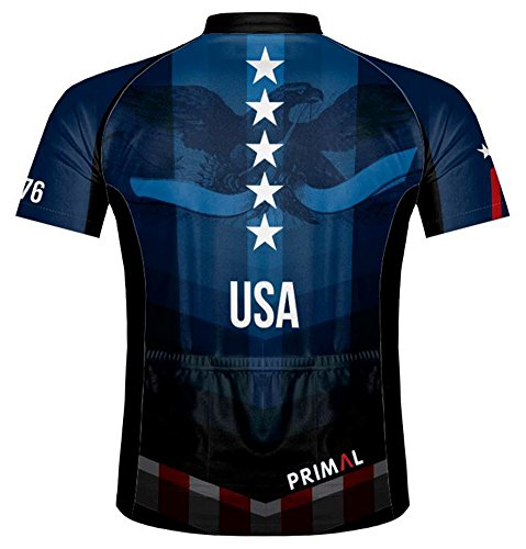 Primal-Wear-American-Patriot-USA-Flag-Cycling-Jersey-Mens-Short-Sleeve