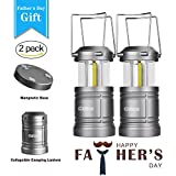 LED Camping Lantern - Gshine Camping Lantern Battery Powered - LED Lantern Lights with Magnetic Base, 30 LEDs COB Technology Water Resistant Collapsible 500lm, camping gear equipment