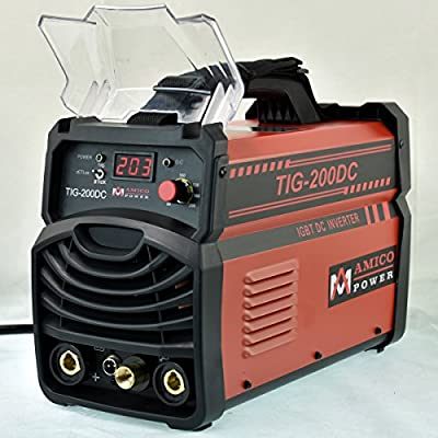 TIG-200DC, 200-Amp TIG-Torch with ARC Stick DC Inverter Welder, 120/240V Dual Voltage Welding, 2-IN-1 Combo Machine