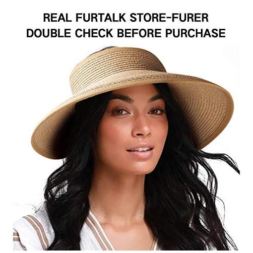 Ladies Packable Sun Hat  Size Adjustable Stripe Scarf Band Big Brim UPF