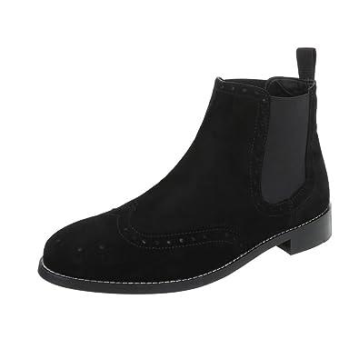 c3a7ad256d45 Stiefeletten Leder Herrenschuhe Chelsea Boots Blockabsatz ...
