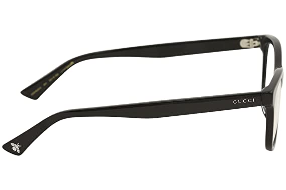 b56c0d72e139 Amazon.com: Gucci GG 0162 OA- 001 BLACK Eyeglasses: Clothing