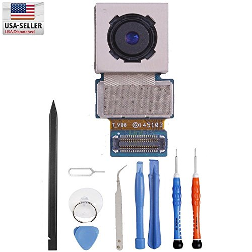 Unifix Back Rear Main Camera Replacement Part for Samsung Galaxy Note 4 N910 N910A N910T N910V N910P + Repair Toolkit (Samsung Galaxy Note 4 Camera Lens)