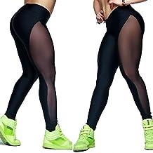 Vinjeely Women's Mesh Sports Elastic Leggings Trousers Running Yoga Pants