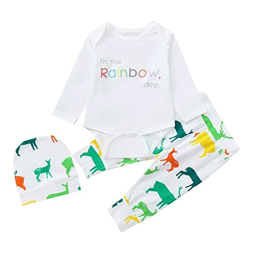 45c254854f64 Amazon.com  Newborn Infant Baby Girls Boys 0-24 Months Letter ...