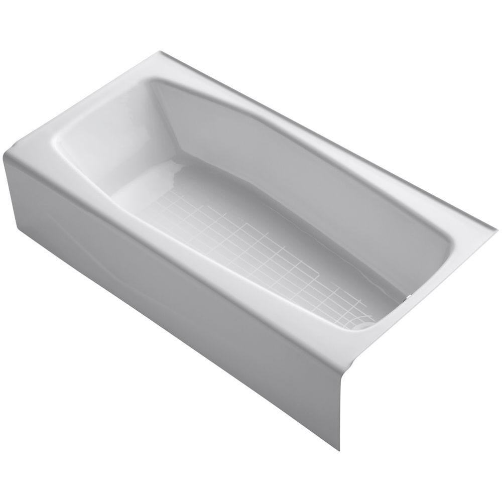 KOHLER K-716-0 Villager Bath with Right-Hand Drain, White ...