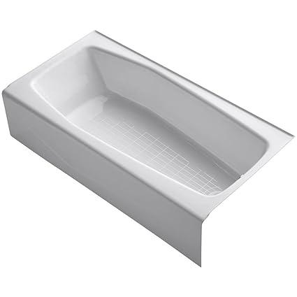 kohler cast iron freestanding tub. KOHLER K 716 0 Villager Bath with Right Hand Drain  White